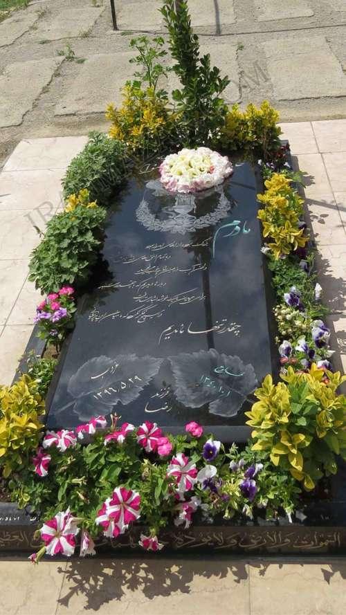 سنگ قبر گرانیت سیمین کد S204