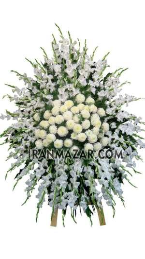 گل تسلیت _ تاج گل یک طبقه _ تاج گل تسلیت _ ارسال تاج گل