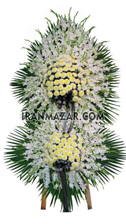 گل تسلیت _ تاج گل تسلیت_ تاج گل دو طبقه _ ارسال تاج گل