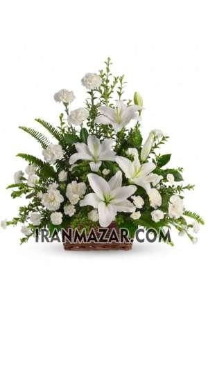 سبد گل ترحیم _ سبد گل برای تسلیت