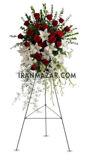 تاج گل ختم _ پایه گل ختم _ گل ختم _ تاج گل یک طبقه