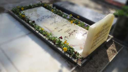سنگ قبر مرمر باغچه دار کد M53